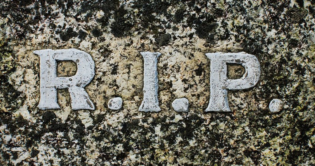Rip R I P Rest In Peace Death  - aitoff / Pixabay